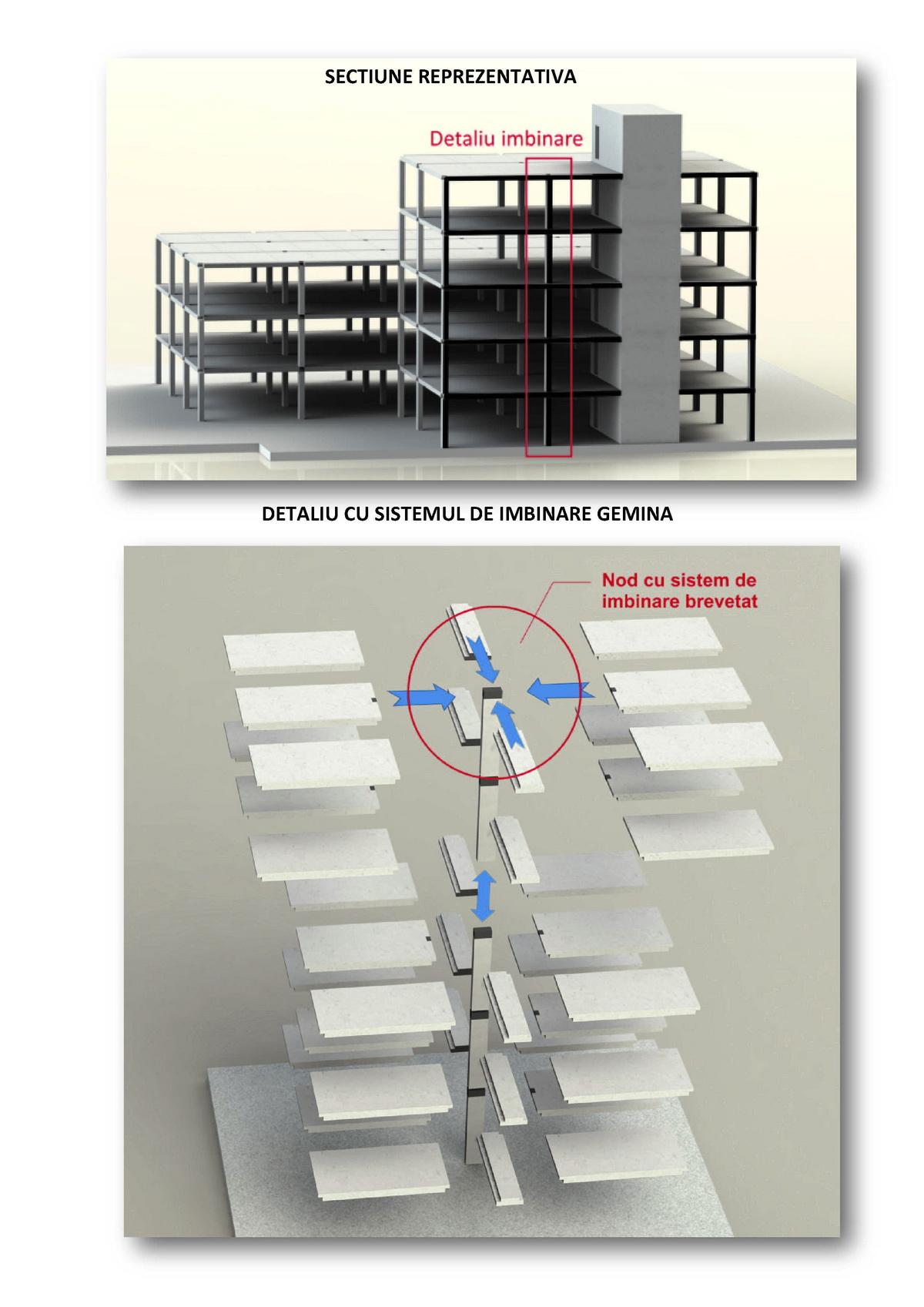 Exemplu de cladire cu prefabricate pentru constructii civile